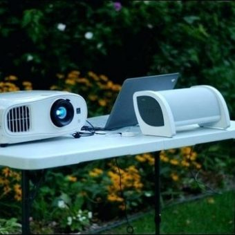 use a projector outside during the day